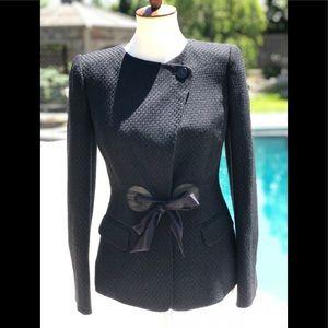 Armani Collezioni sz 4 black blazer with bow